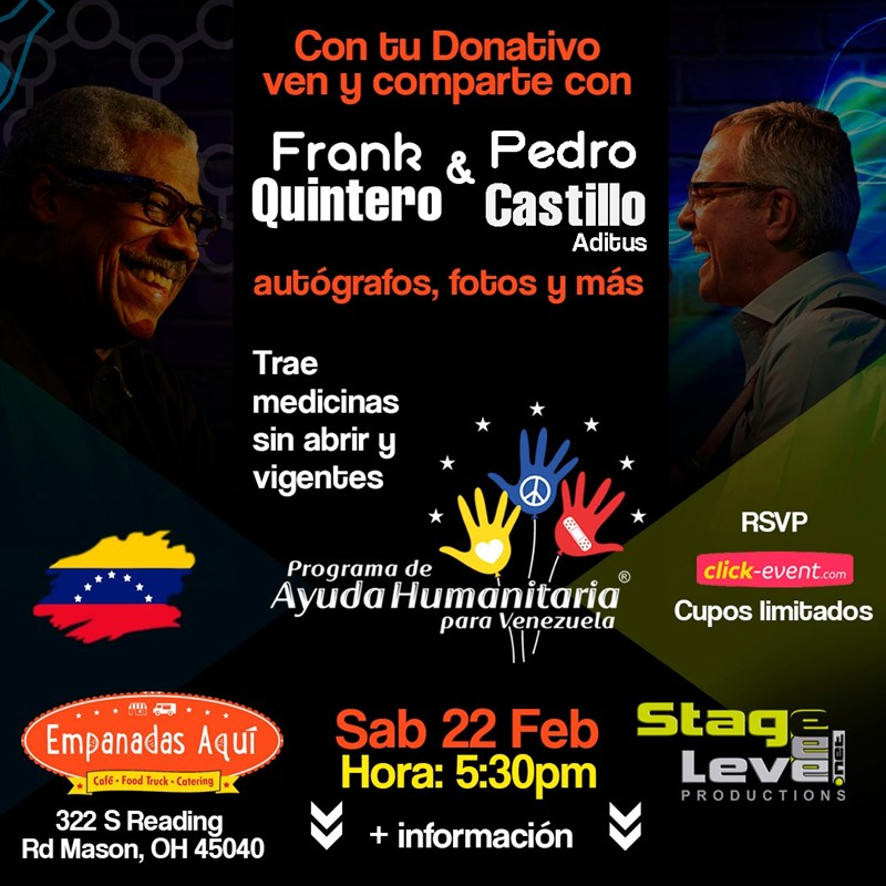 Get Information and buy tickets to Meet & Greet con Frank Quintero y Pedro Castillo RSVP on www.click-event.com