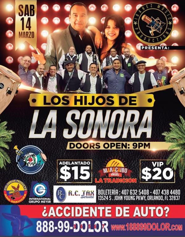 """Get Information and buy tickets to Concierto """"LOS HIJOS DE LA SONORA"""" Reg $15 - Vip $20 on www.click-event.com"""