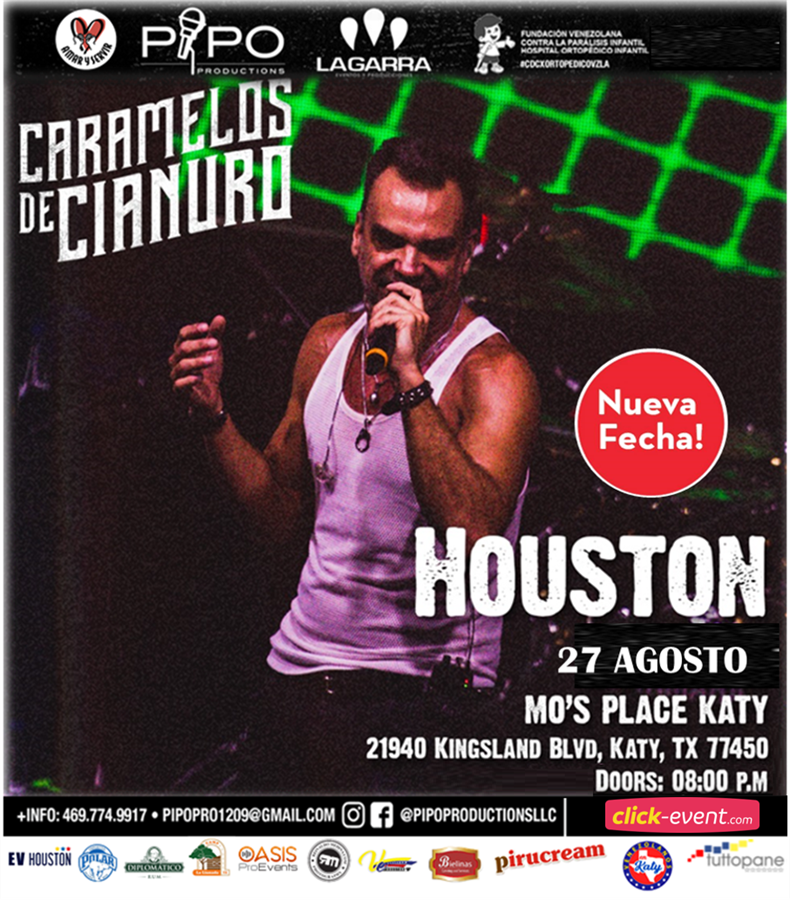 Get Information and buy tickets to Caramelos de Cianuro - Houston TX Reg $55 on www.click-event.com