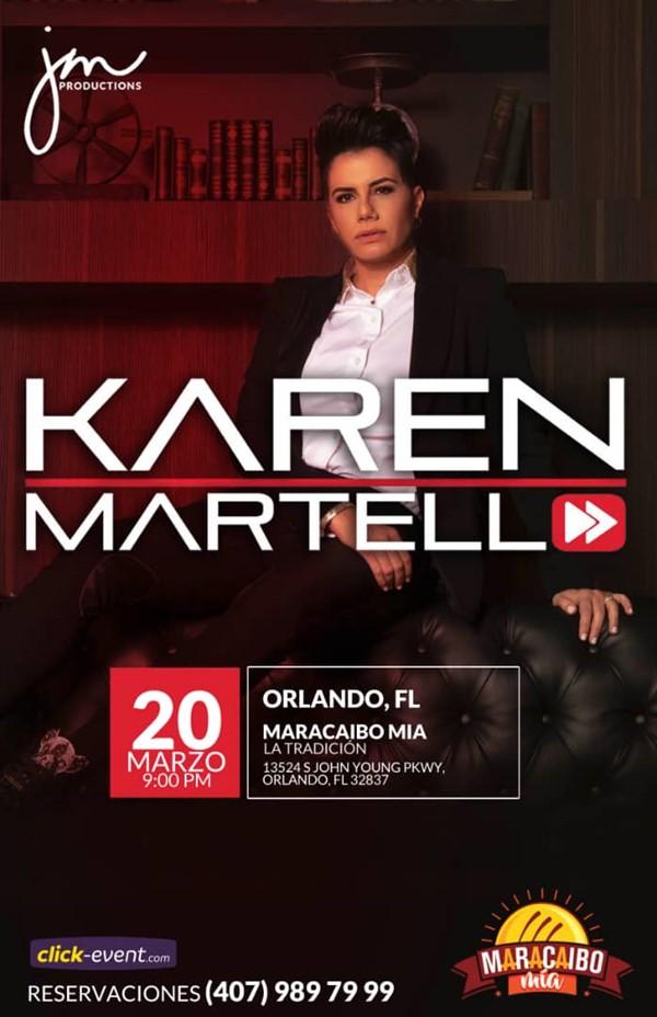 Get Information and buy tickets to Karen Martello - Orlando FL Reg $18 on www.click-event.com