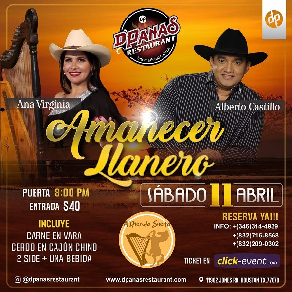 Get Information and buy tickets to Amanecer Llanero - Houston TX Reg $40 on www.click-event.com