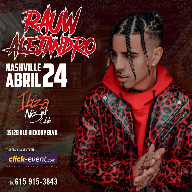 Get Information and buy tickets to Rauw Alejandro - Nashville TN Preventa $45 on www.click-event.com