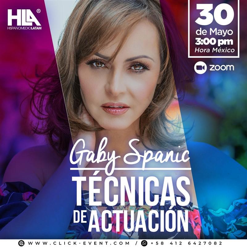 Get Information and buy tickets to Técnicas Básicas de Actuación - Gaby Spanic - VIA ZOOM Reg $30 on www.click-event.com