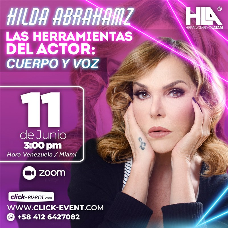 Get Information and buy tickets to Las Herramientas del Actor - Hilda Abrahamz - Via ZOOM Reg $30 on www.click-event.com