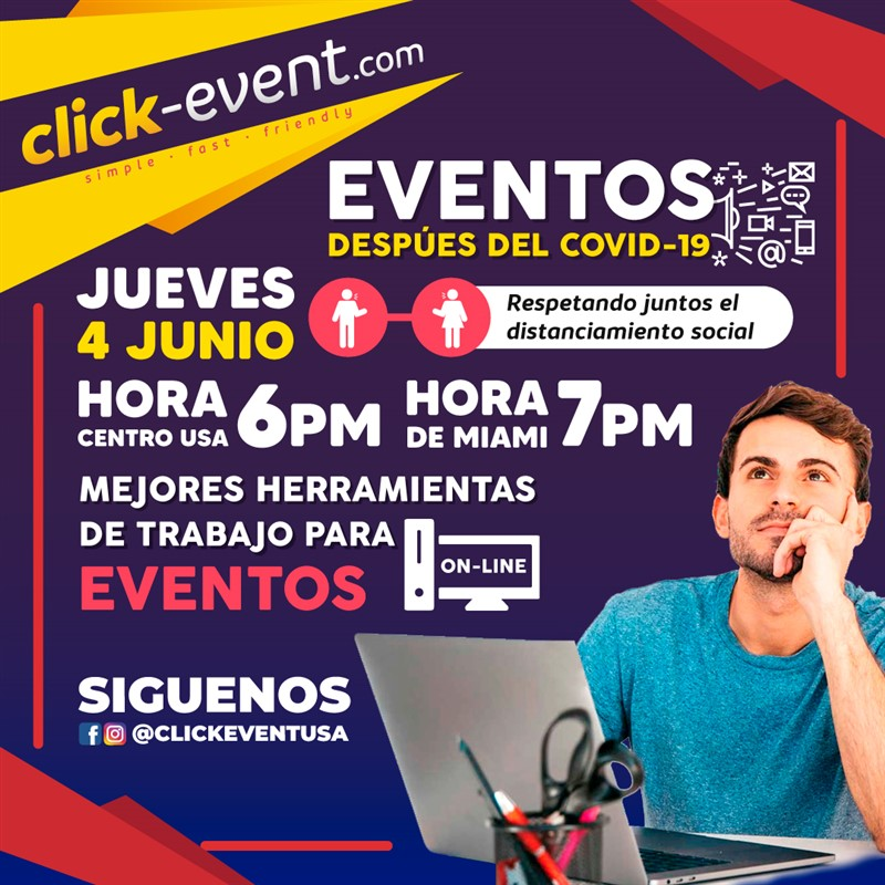 Get Information and buy tickets to Eventos despues de COVID-19 - Rey Penso - CEO Click Event Reg $25 on www.click-event.com