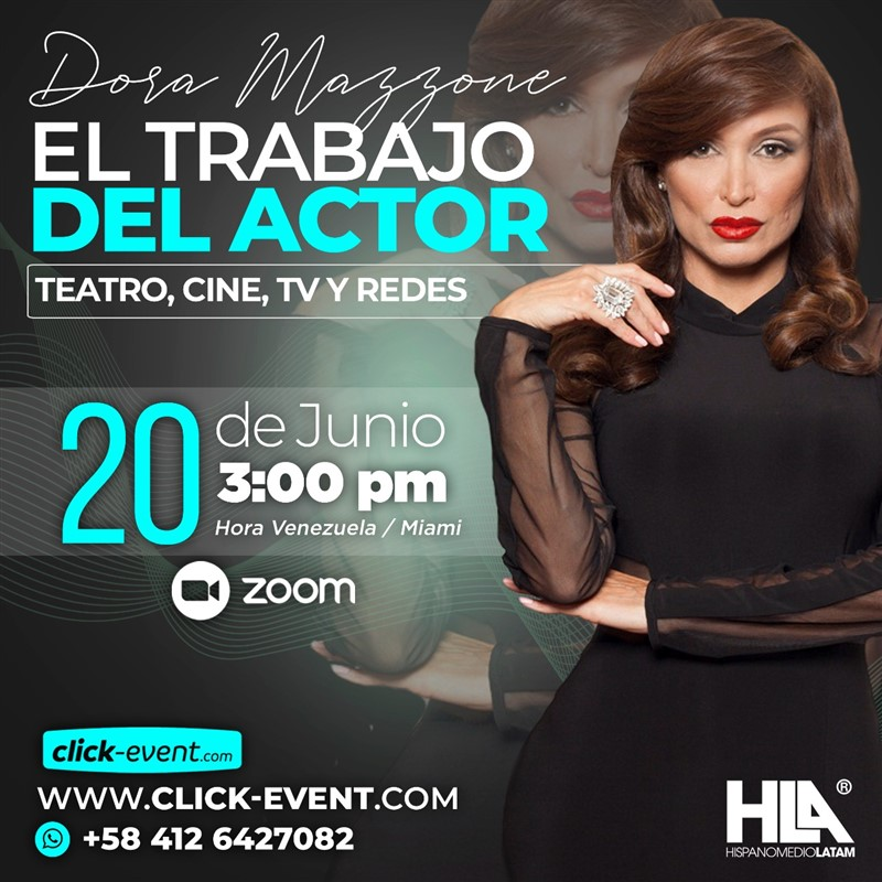 Get Information and buy tickets to El Trabajo del Actor - Dora Mazzone  - VIA ZO Reg $20 on www.click-event.com