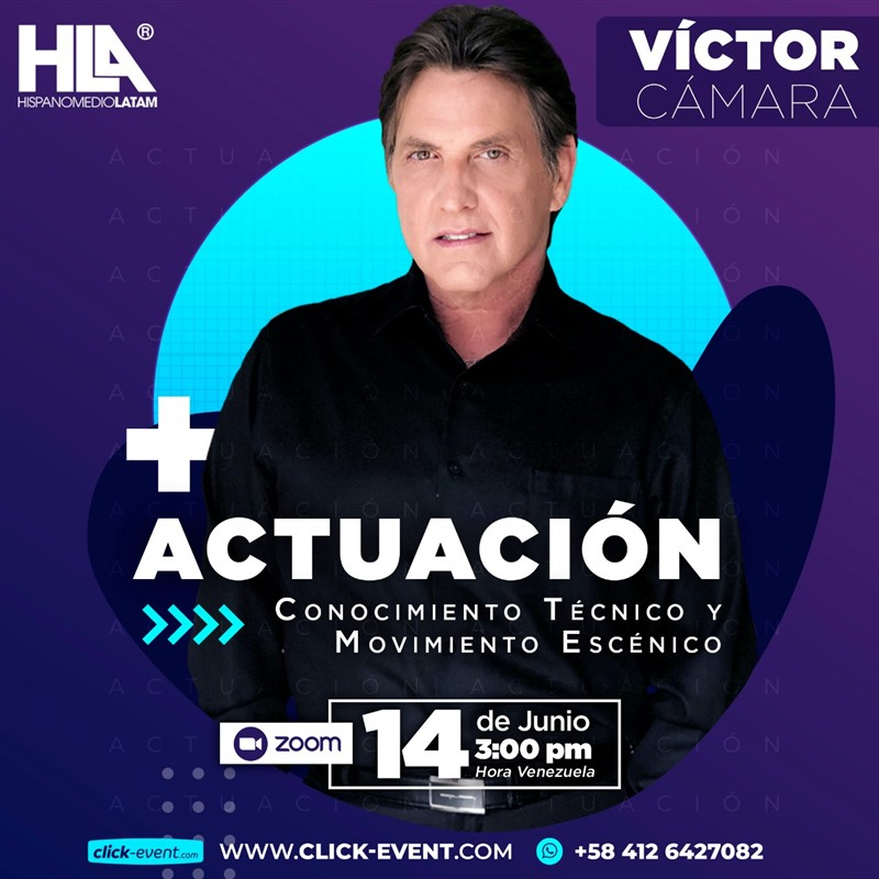 Get Information and buy tickets to Actuación y verdad - Victro Camara  - VIA ZO Reg $30 on www.click-event.com