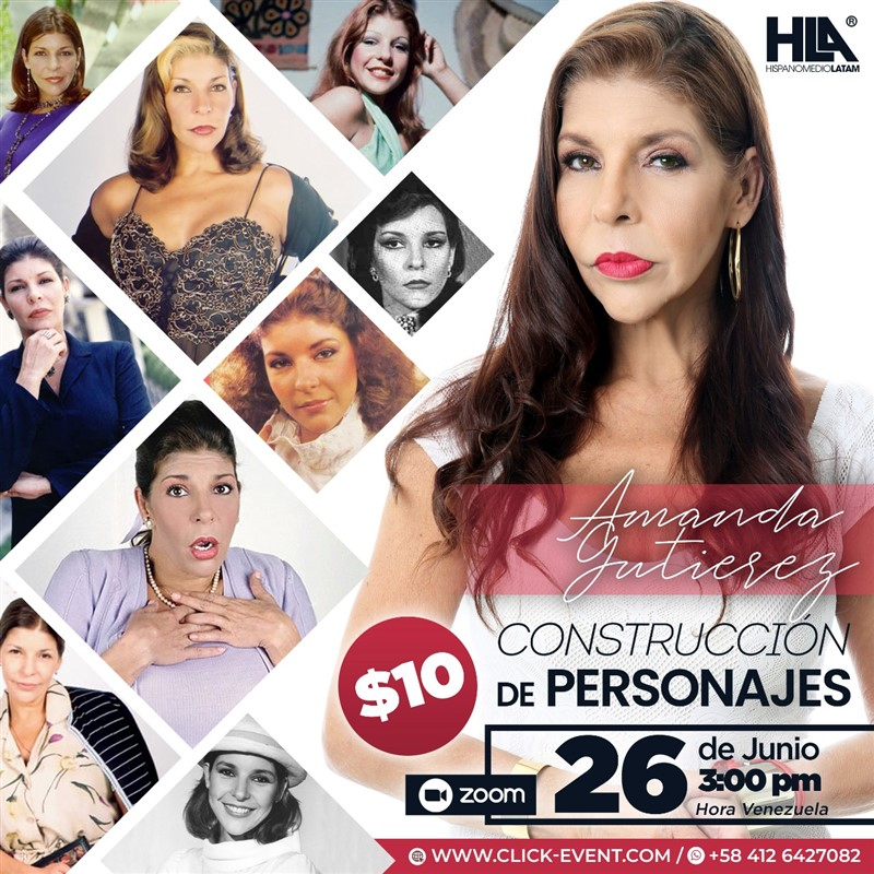 Get Information and buy tickets to Construcción de Personajes  - Amanda Gutierrez - VIA ZO Reg $10 on www.click-event.com