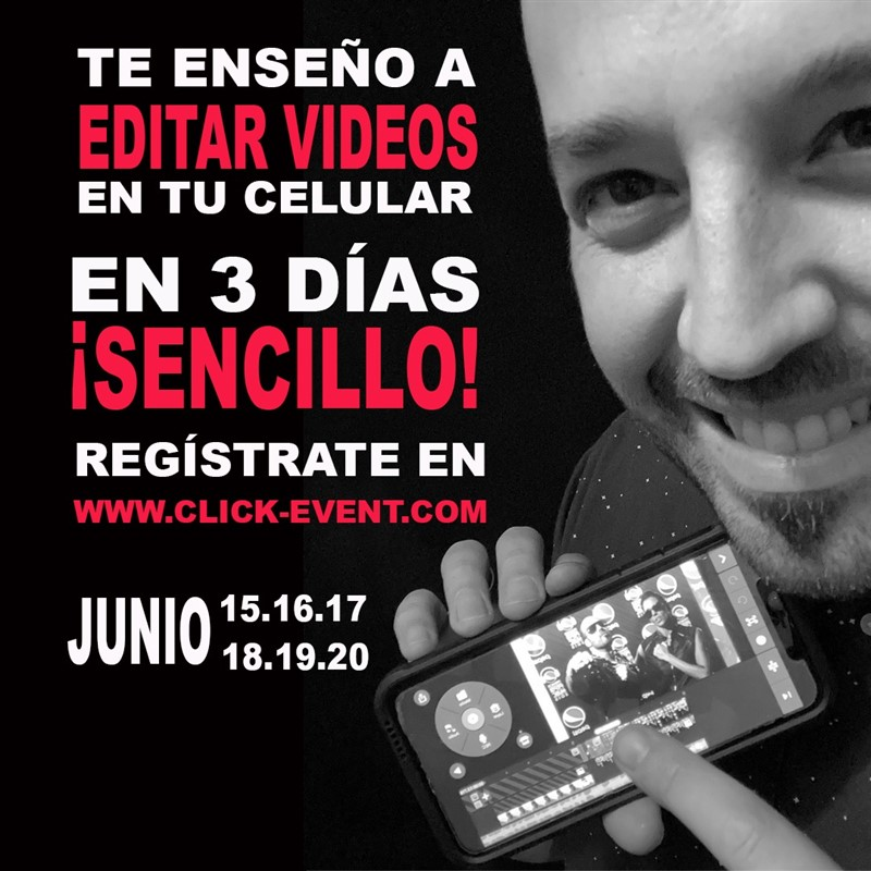 Get Information and buy tickets to Te Enseño a Editar videos en tu celular - Ramón Castro, Reg $50 on www.click-event.com