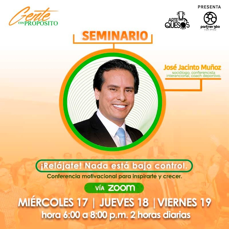 Get Information and buy tickets to Relajate Nada está bajo control!! - Seminario -  José Jacint Reg $45 on www.click-event.com