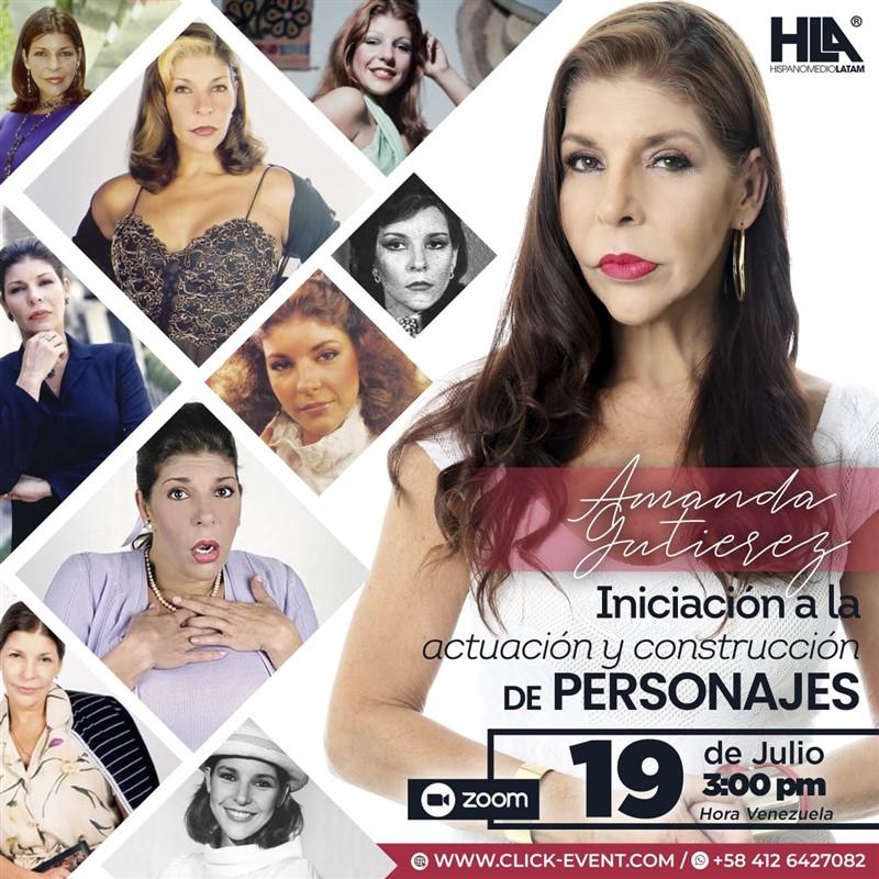Get Information and buy tickets to Construcción de Personajes  - Amanda Gutierrez - VIA ZOOM Reg $20 on www.click-event.com