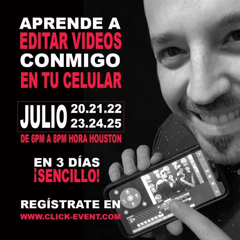 Get Information and buy tickets to Aprende a editar videos en tu celular - Ramón Castro, Reg $50 on www.click-event.com