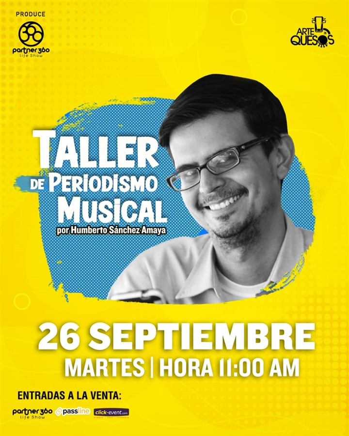 Get Information and buy tickets to Taller de Periodismo Musical - Humberto Sáchez Amaya Reg $10 on www.click-event.com