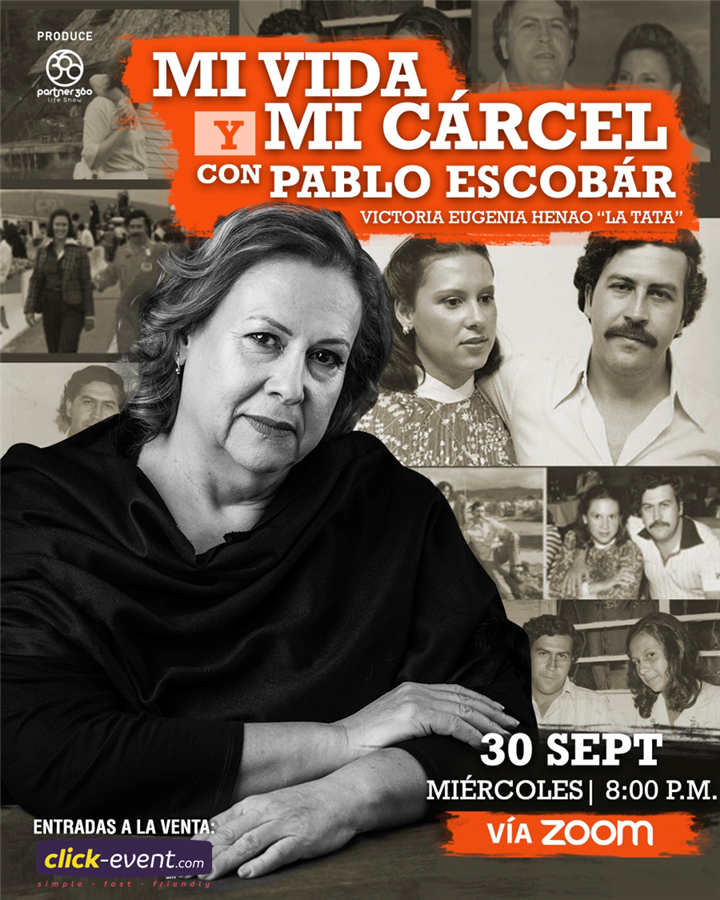 Get Information and buy tickets to Mi Vida y Mi Cárcel con Pablo Escobar Reg $10 on www.click-event.com