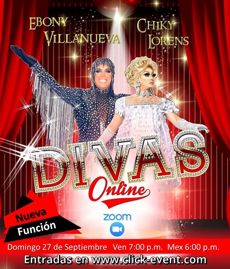 Get Information and buy tickets to Divas Online -  Ebony Villanueva - Chiky Lorens Reg $5 on www.click-event.com
