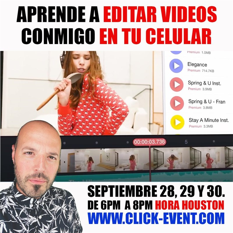Get Information and buy tickets to Aprende a editar videos en tu celular - Ramón Castro, Reg $50 on www.click-event.com