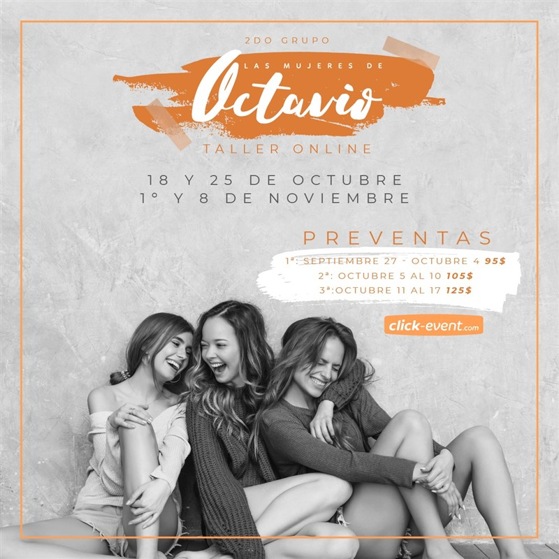 Get Information and buy tickets to Las mujeres de Octavio Reg $125 - Preventa $95 - $105 on www.click-event.com