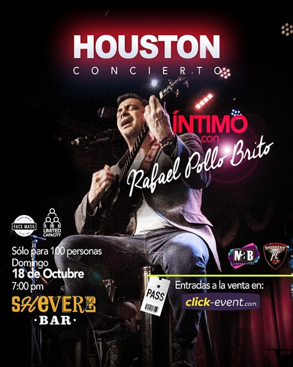 Get Information and buy tickets to Intimo con Rafael Pollo Brito Reg $50, Vip $60 Preventa Limitada on www.click-event.com
