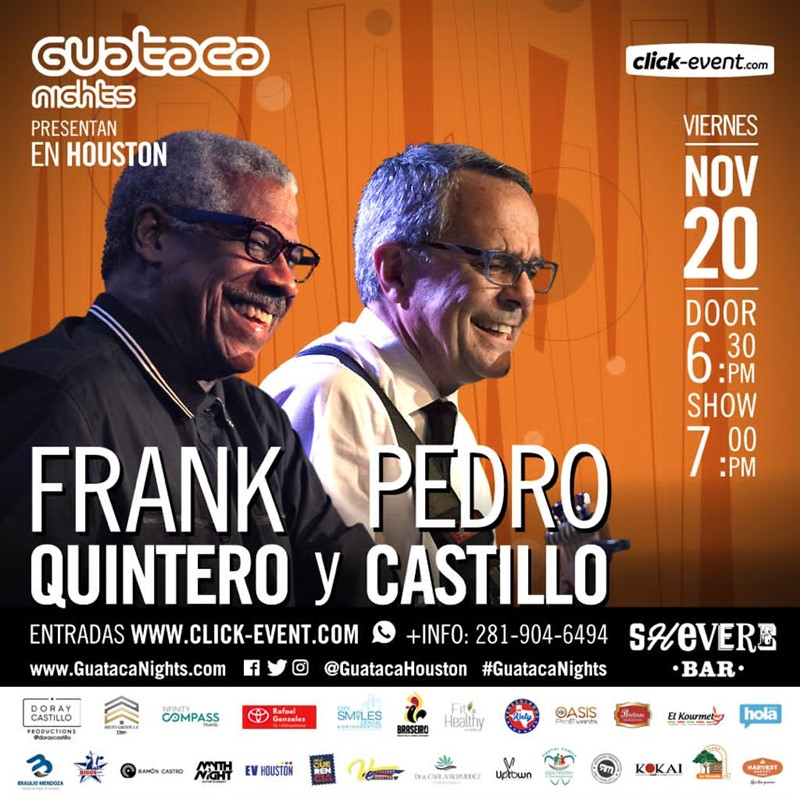 Get Information and buy tickets to Frank Quintero & Pedro Castillo Reg $35 - Vip $55 on www.click-event.com