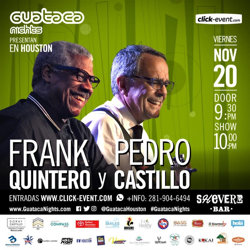 Get Information and buy tickets to Frank Quintero & Pedro Castillo Reg $35 - Vip $55 / 9:30 pm on www.click-event.com