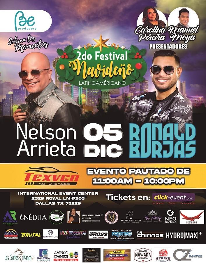 Obtener información y comprar entradas para 2do Festival Navideño con Nelson Arrieta y Ronald Borjas General $25 - Vip $40 en www.click-event.com.