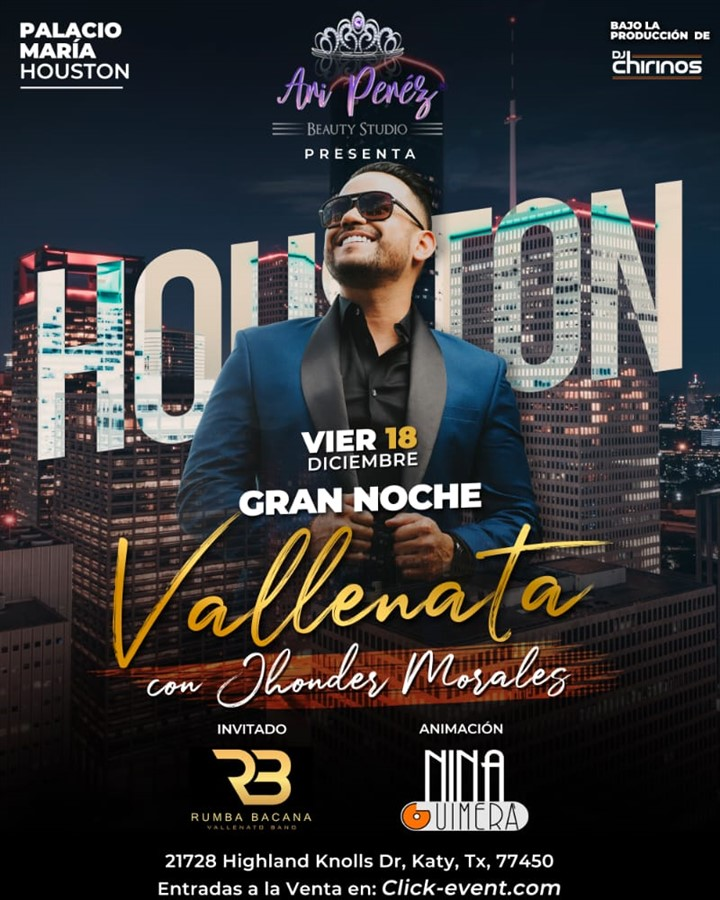 Get Information and buy tickets to Gran Noche Vallenata con Jhonder Morales Reg $50 - Vip $65 Preventa Limitada on www.click-event.com