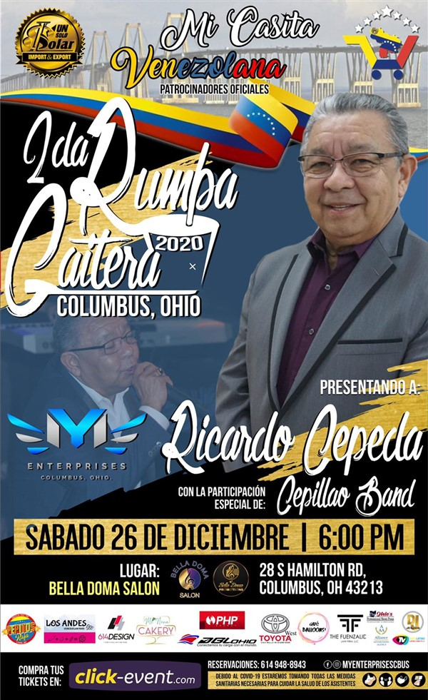 Get Information and buy tickets to 2da Rumba Gaitera 2020 - Columbus Ohio Reg $40 - Vip $70 on www.click-event.com