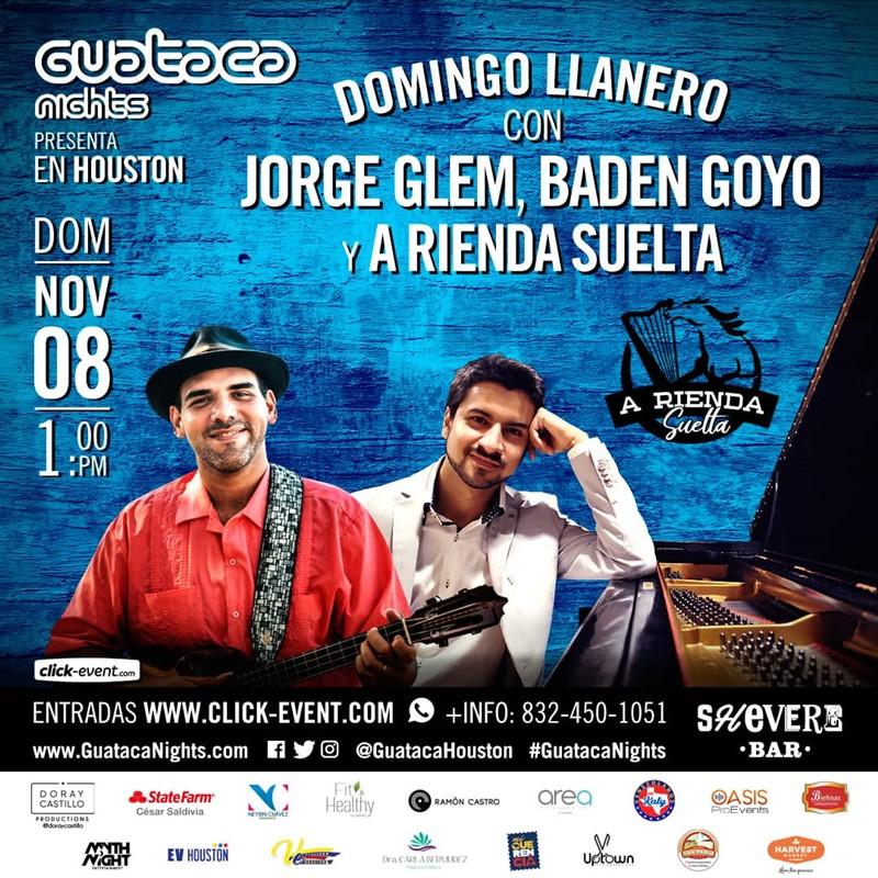Get Information and buy tickets to Domingo Llanero con Jorge Glem, Baden Goy y A Rienda Suelta Reg $20 - Vip $30 on www.click-event.com