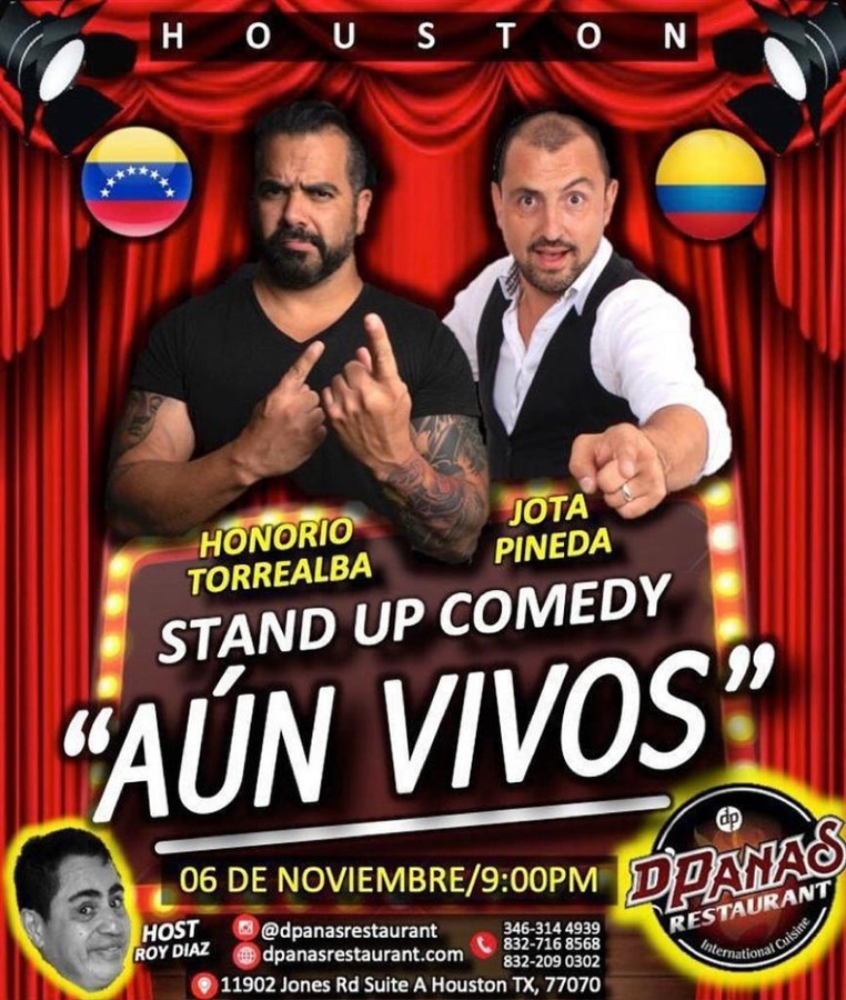 Get Information and buy tickets to Aun Vivos - Stand Up Comedy - Honorio Torrealba y Jota Pineda Reg $25 on www.click-event.com