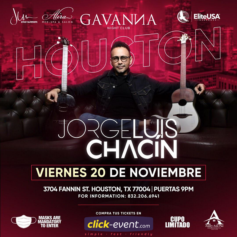 Get Information and buy tickets to Jorge Luis Chacín Reg $55 on www.click-event.com