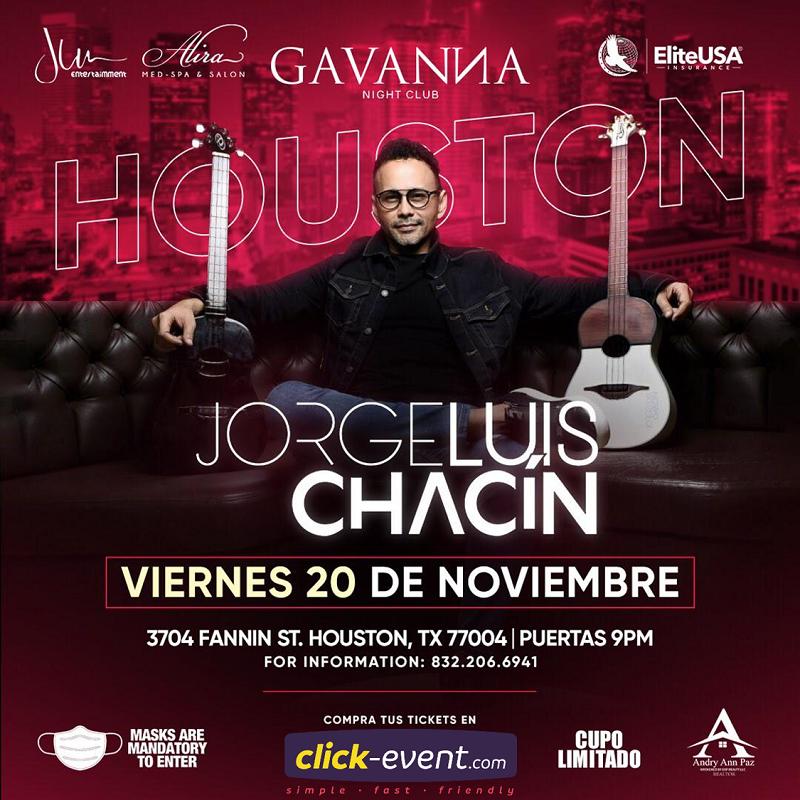 Obtener información y comprar entradas para Jorge Luis Chacín Reg $55 en www.click-event.com.
