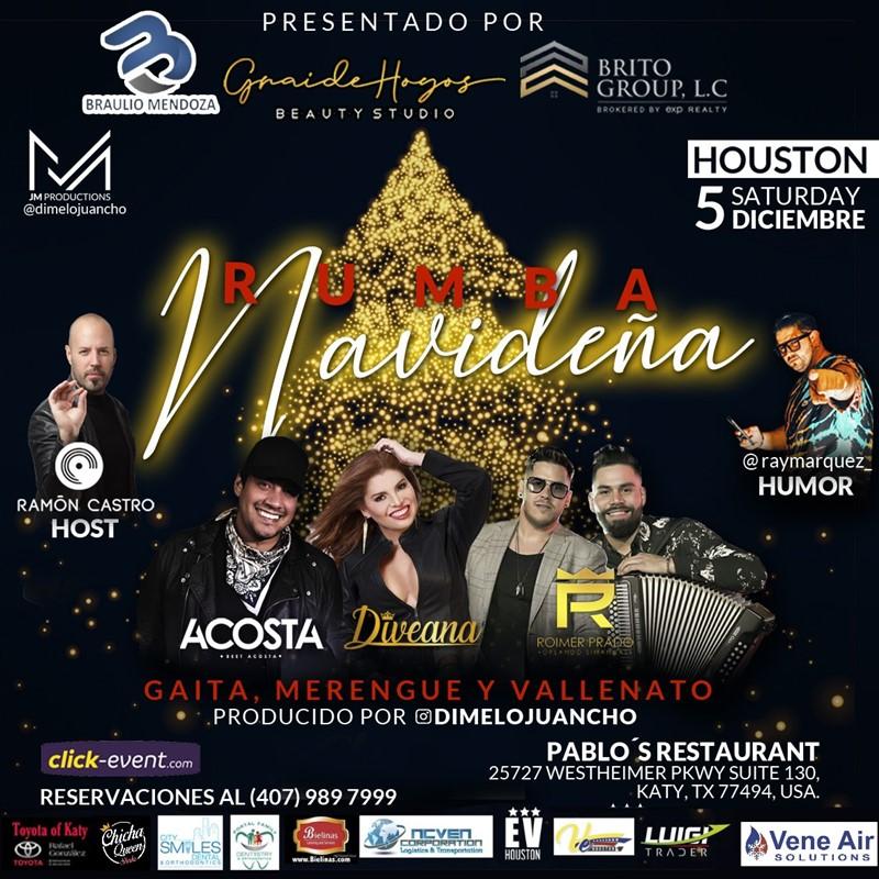 Get Information and buy tickets to Rumba Navideña - Beet Acosta , Diveana y Roimer Prado Reg $50 - Vip $60 on www.click-event.com