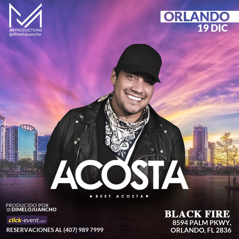 Get Information and buy tickets to Beet Acosta - Orlando FL Reg $30 on www.click-event.com