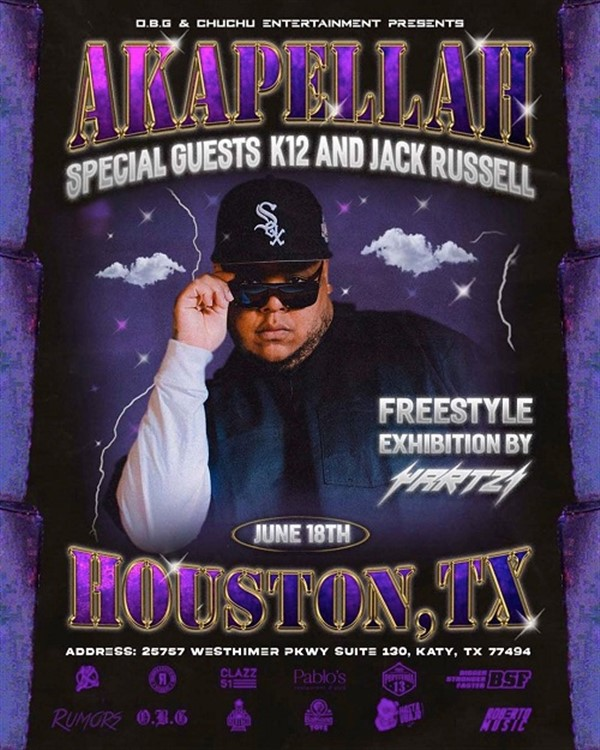 Obtener información y comprar entradas para Akapella with K12 & Jack Russell - Houston TX  en www.click-event.com.