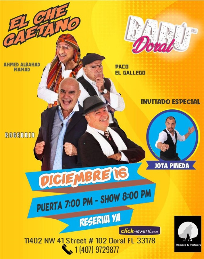 Get Information and buy tickets to Che Gaetano - Miami FL Reg $25 on www.click-event.com