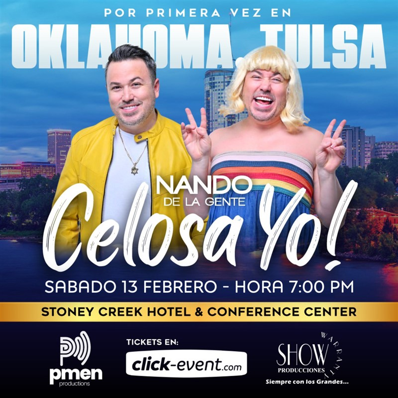 Get Information and buy tickets to NANDO DE LA GENTE - Con su show ¡Celosa yo! Platinum $50 to Gold $80 on www.click-event.com
