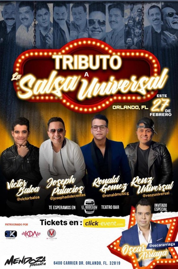 Get Information and buy tickets to Tributo a la Salsa Universal Reg $30 - Vip $50 on www.click-event.com