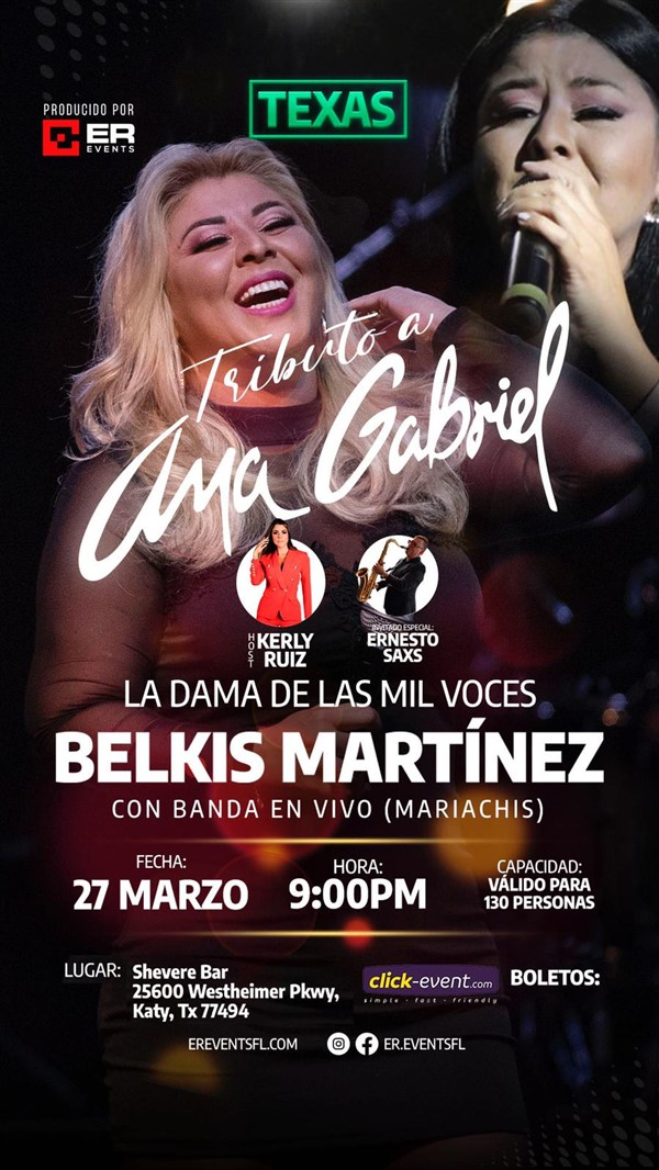 Get Information and buy tickets to Tributo a Ana Gabriel - Belkis Martinez Reg $40 on www.click-event.com