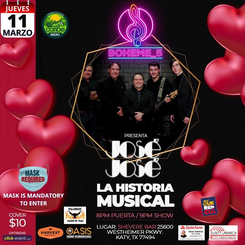 Get Information and buy tickets to José José - La Historia Musical con Boheme 5 Reg $10 on www.click-event.com