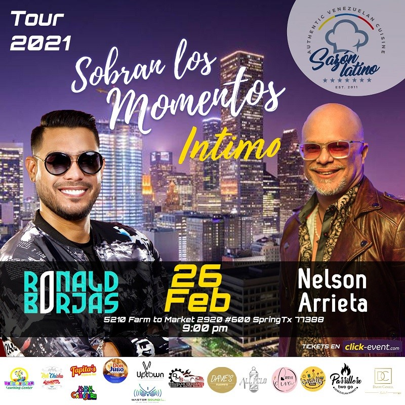Get Information and buy tickets to Sobran los Momentos INTIMO - Nelson Arrieta - Ronal Borjas Barra $65 - Reg $70 on www.click-event.com