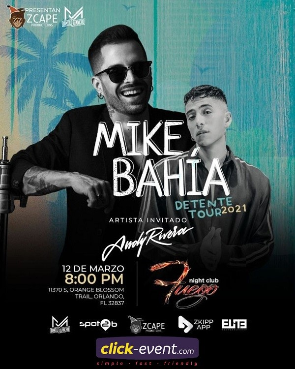 Get Information and buy tickets to Mike Bahia General $40 - Vip $60 on www.click-event.com