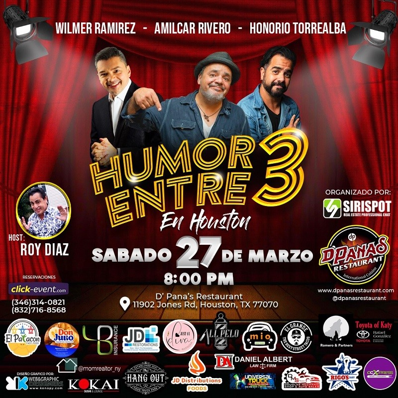Get Information and buy tickets to Humor entre 3 - Wilmer Ramirez - Amilcar Rivero - Honorio Torrealba Reg $30 on www.click-event.com