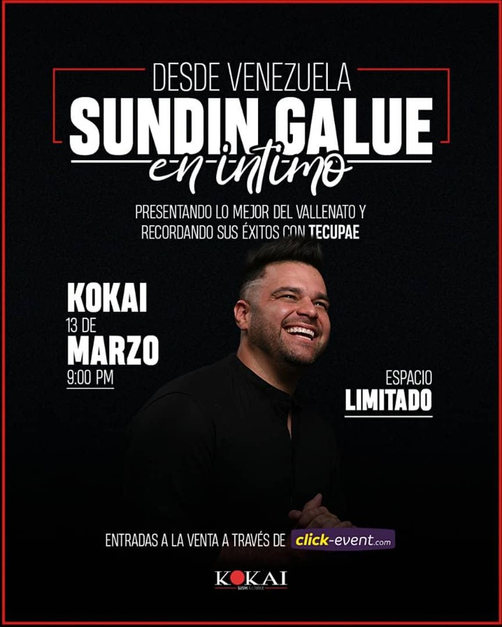 Get Information and buy tickets to Sundin Galue en Intimo Reg $30 on www.click-event.com