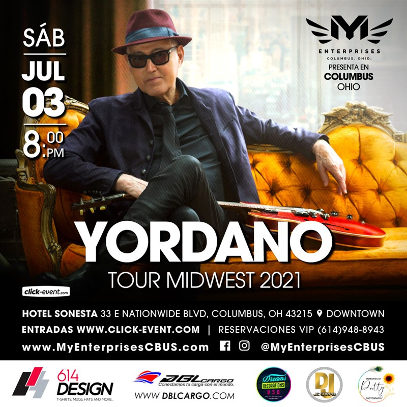 Get Information and buy tickets to Yordano Tour Midwest - Columbus OH  on www.click-event.com
