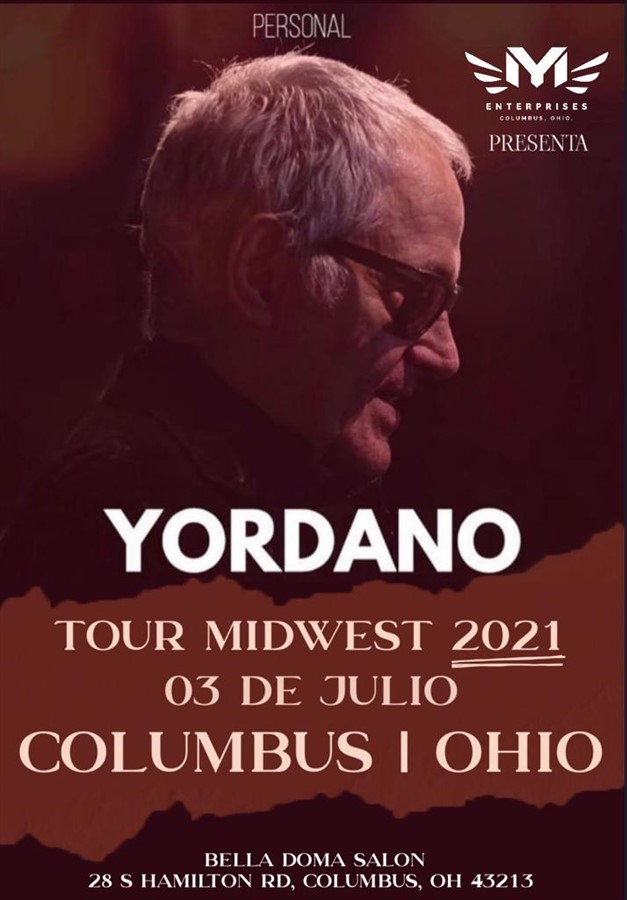 Get Information and buy tickets to Yordano Tour Midwest - Columbus OH Reg $40,$50 - Vip Bronze $60 - Vip Silver $70 - Vip Gold $85 on www.click-event.com