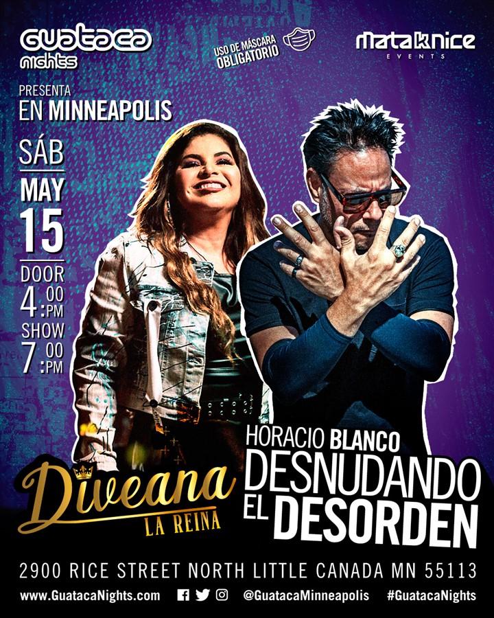 Obtener información y comprar entradas para DIVEANA y HORACIO BLANCO   2 artistas en una noche Preventa Platinum $50 - Gold $70 en www.click-event.com.