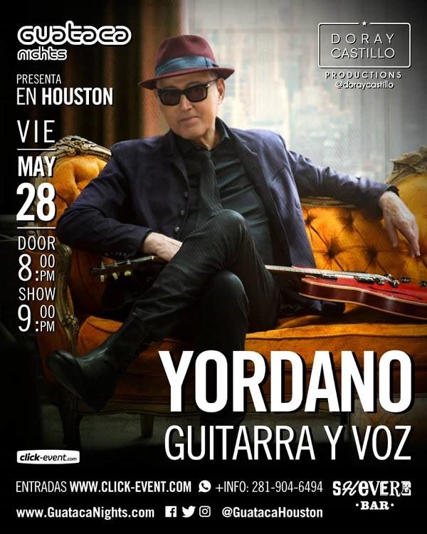 Obtener información y comprar entradas para Yordano Guitarra y Voz - Katy TX Reg $45 - Vip $75 en www.click-event.com.