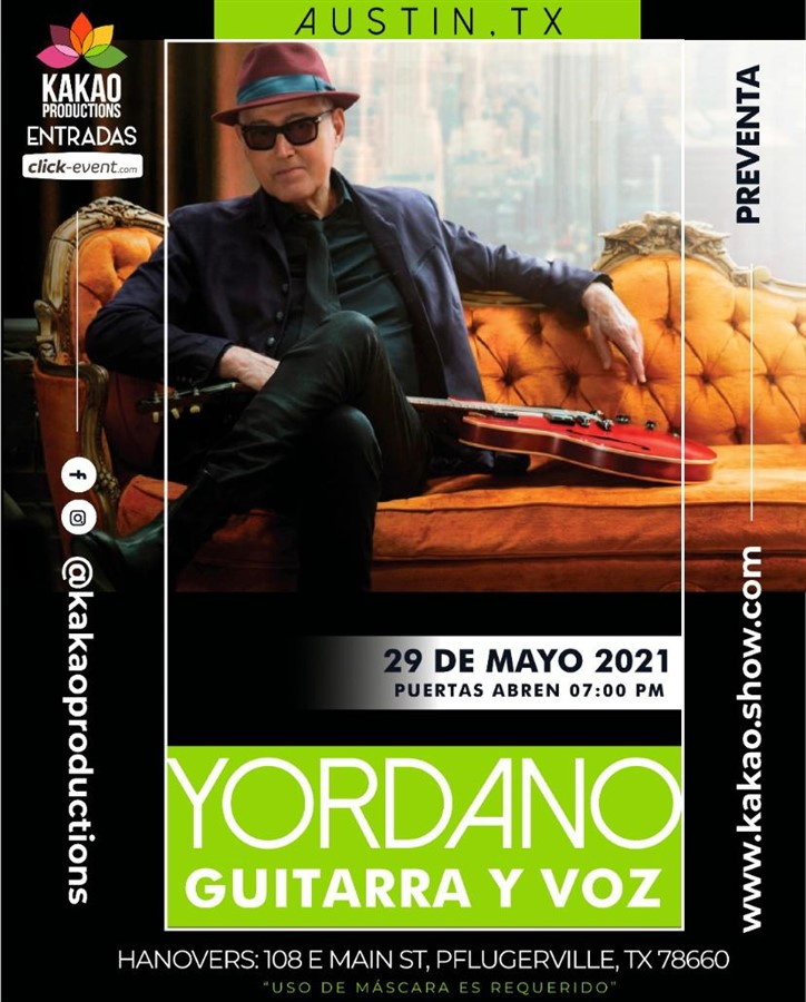 Get Information and buy tickets to Yordano Guitarra y Voz - Austin TX  on www.click-event.com