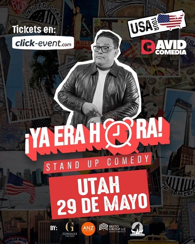Ya Era Hora - Stand Up Comedy - David Comedia - Salt Lake