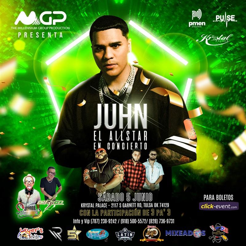 """Obtener información y comprar entradas para Juhn """"El Allstar"""" En Concierto Preventa en www.click-event.com."""